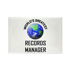 World's Greatest RECORDS MANAGER Rectangle Magnet