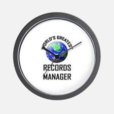 World's Greatest RECORDS MANAGER Wall Clock