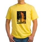 MidEve-EnglishSpringer7 Yellow T-Shirt
