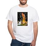 MidEve-EnglishSpringer7 White T-Shirt