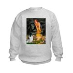 MidEve-EnglishSpringer7 Kids Sweatshirt