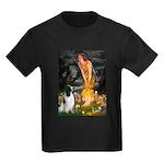 MidEve-EnglishSpringer7 Kids Dark T-Shirt