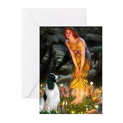 MidEve-EnglishSpringer7 Greeting Cards (Pk of 10)