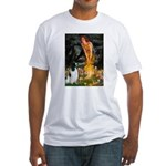 MidEve-EnglishSpringer7 Fitted T-Shirt