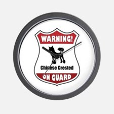 Crested On Guard Wall Clock
