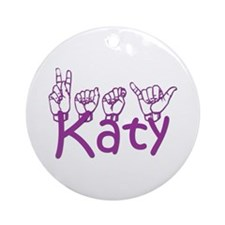 Katy-prple Ornament (Round)