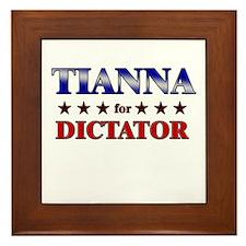 TIANNA for dictator Framed Tile