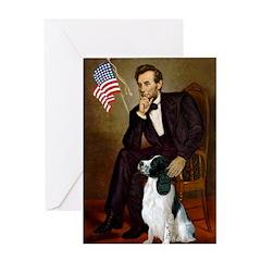 Lincoln / Eng Springer Greeting Card
