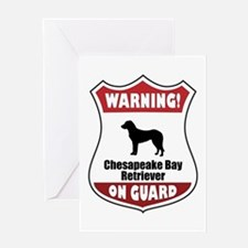 Chessie On Guard Greeting Card