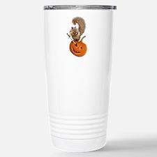 Squirrel Sword Jack-o-Lantern Travel Mug