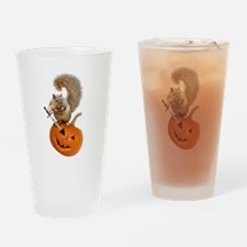 Squirrel Sword Jack-o-Lantern Drinking Glass