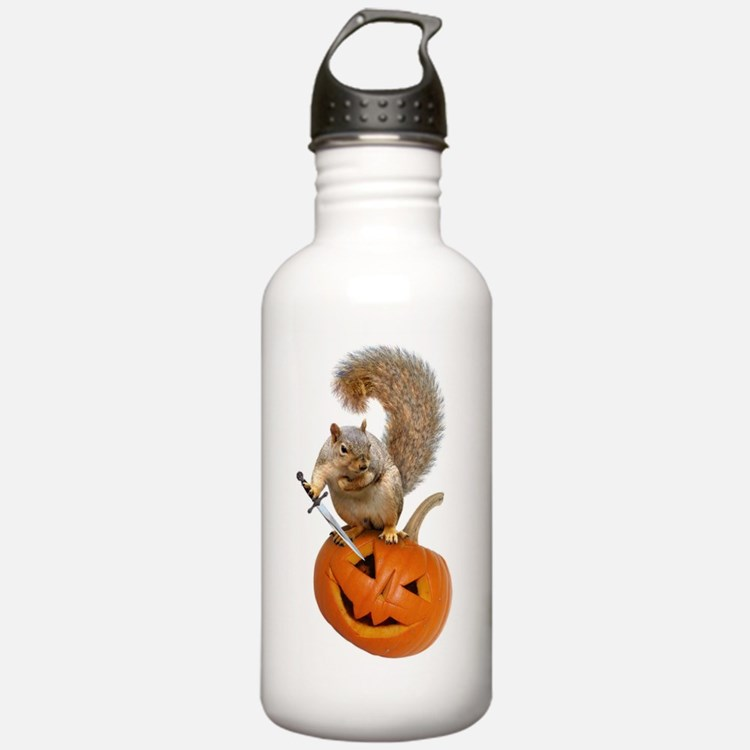 Squirrel Sword Jack-o-Lantern Water Bottle