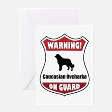 Caucasian On Guard Greeting Card