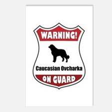 Caucasian On Guard Postcards (Package of 8)