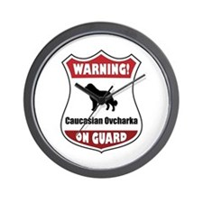 Caucasian On Guard Wall Clock