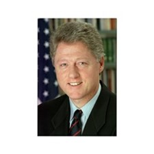 President Clinton Rectangle Magnet