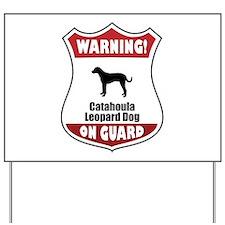 Catahoula On Guard Yard Sign