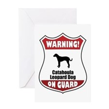 Catahoula On Guard Greeting Card