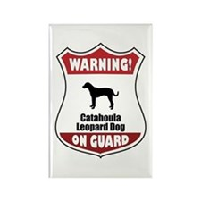 Catahoula On Guard Rectangle Magnet