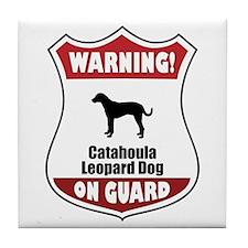 Catahoula On Guard Tile Coaster