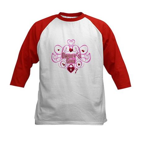 Pink - Daddy's Girl Kids Baseball Jersey