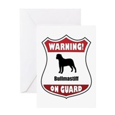 Bullmastiff On Guard Greeting Card