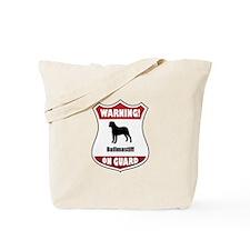 Bullmastiff On Guard Tote Bag