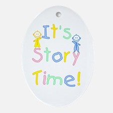 Story Time Babies Ornament (Oval)