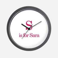 S is for Sara Wall Clock