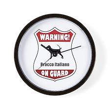 Bracco On Guard Wall Clock