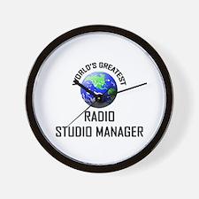 World's Greatest RADIO STUDIO MANAGER Wall Clock