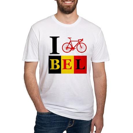 I Bike Belgium Fitted T-Shirt