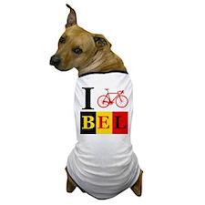 I Bike Belgium Dog T-Shirt