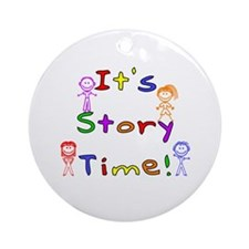 Story Time w Stick Kids Ornament (Round)