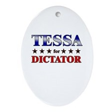 TESSA for dictator Oval Ornament