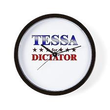 TESSA for dictator Wall Clock