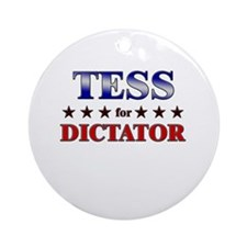 TESS for dictator Ornament (Round)