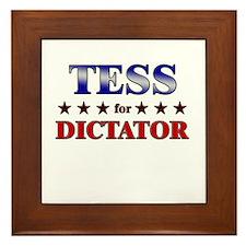 TESS for dictator Framed Tile