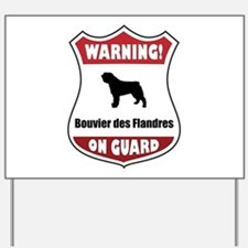 Bouvier On Guard Yard Sign