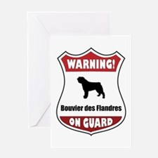 Bouvier On Guard Greeting Card