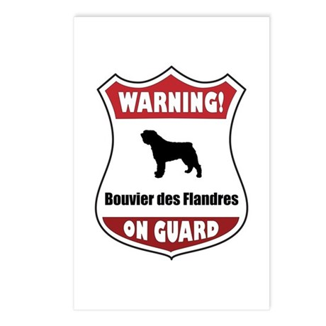Bouvier On Guard Postcards (Package of 8)