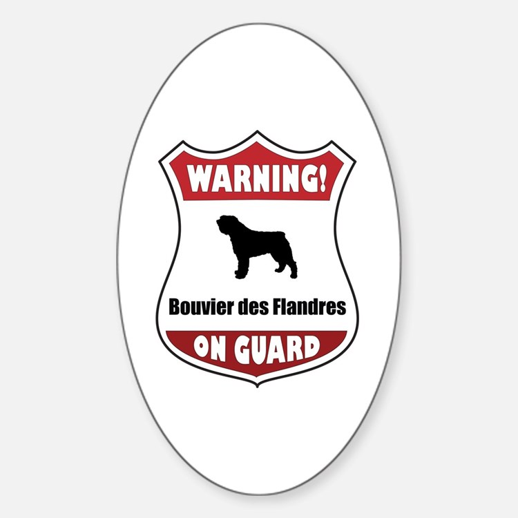Bouvier On Guard Oval Decal