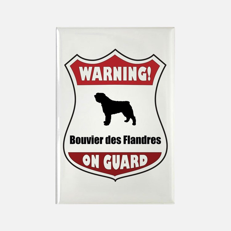 Bouvier On Guard Rectangle Magnet (100 pack)