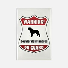 Bouvier On Guard Rectangle Magnet (10 pack)