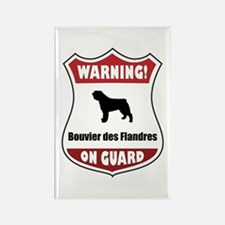 Bouvier On Guard Rectangle Magnet