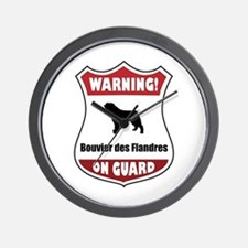 Bouvier On Guard Wall Clock