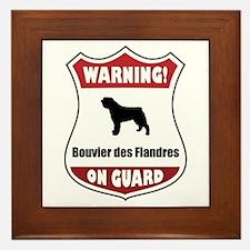 Bouvier On Guard Framed Tile