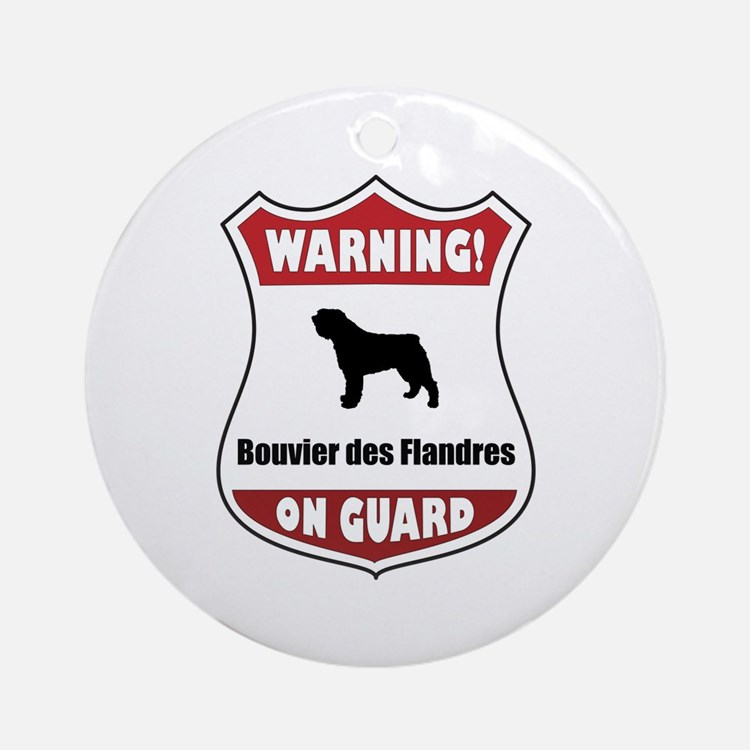 Bouvier On Guard Ornament (Round)
