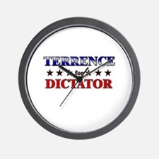 TERRENCE for dictator Wall Clock