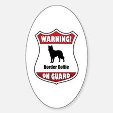 Collie On Guard Oval Decal